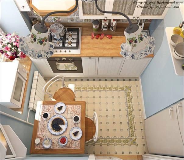 Desain apartemen ruangan dapur