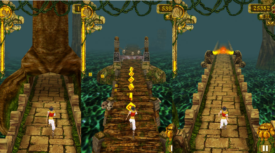 Image for temple run game, running games, Nostalgic Games getting replaced by modern games, Addictive modern games, 90s Nostalgic Games