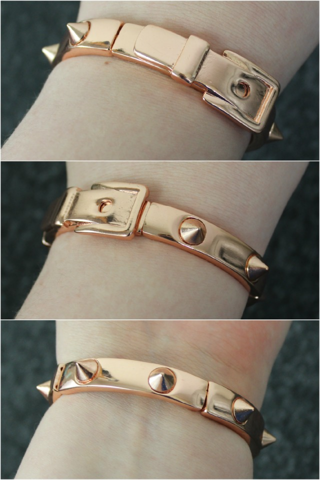 Rivkasmom Shoplately Rose Gold Spike Buckle bracelet