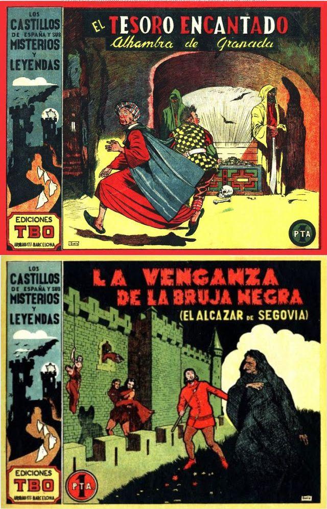 LOS CASTILLOS DE ESPAÑA Y SUS MISTERIOS Y LEYENDAS, EDICIONES TBO
