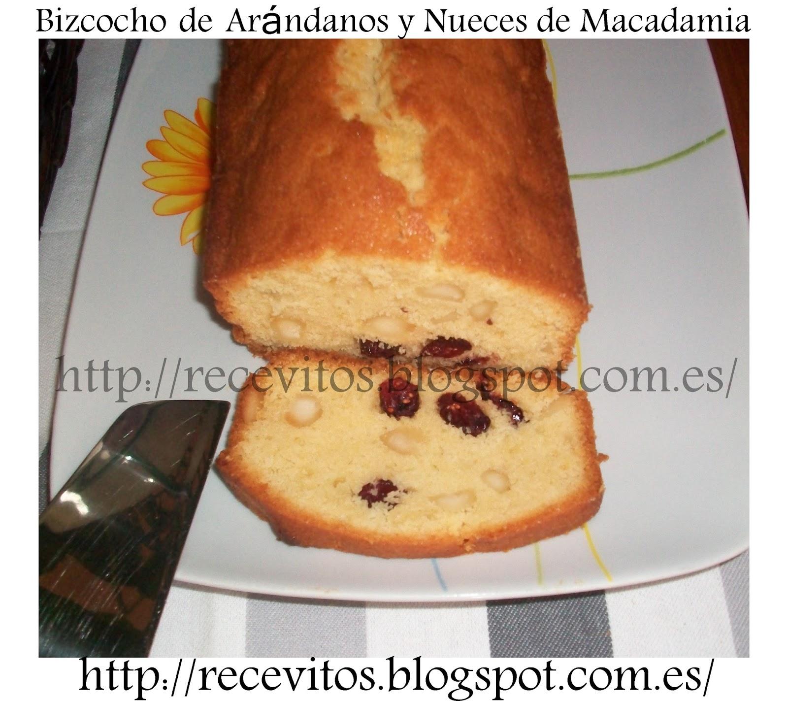 Recevitos bizcocho de ar ndanos y nueces de macadamia - Bizcocho microondas isasaweis ...