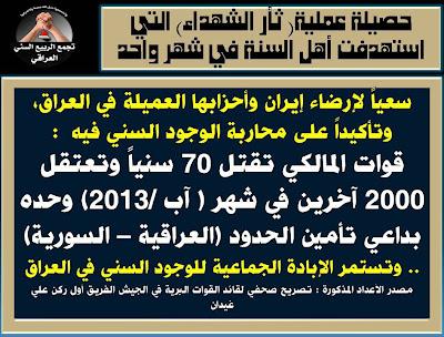 مستجدات الثورة السنية العراقية ليوم الاثنين 2/9/2013