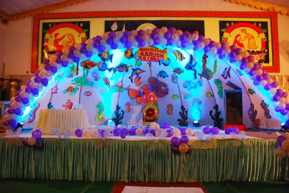 Party decorations hyderabad ocean theme for Balloon decoration for kids party