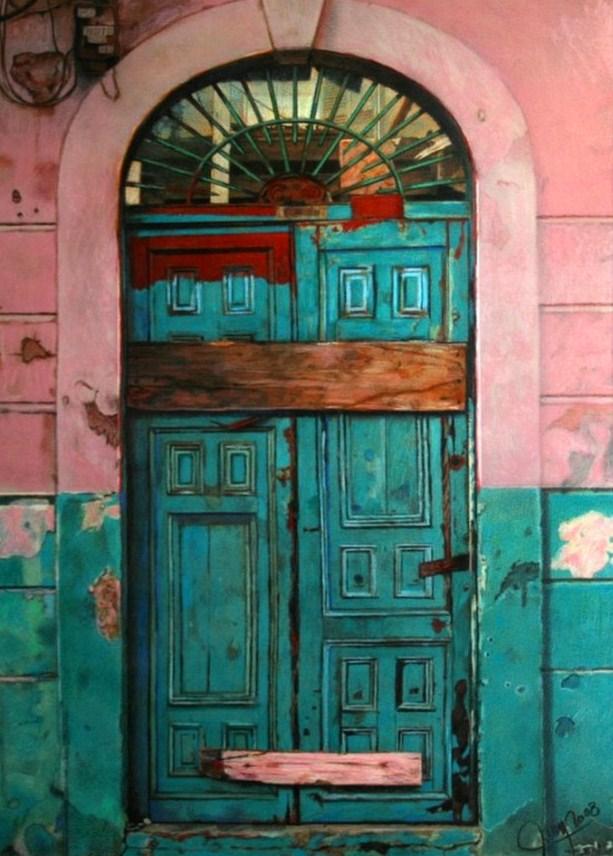 Pintura moderna y fotograf a art stica pintura oleo puertas - Pintura para puertas ...
