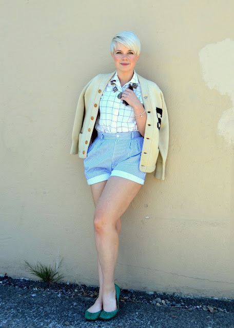 seattle, preppy, lifestyle, street style, summer fashion, vintage, blonde, in style, high waisted, pastels