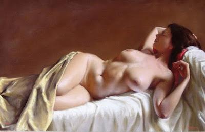 Pintura Hiperrealista Desnudo Artistico