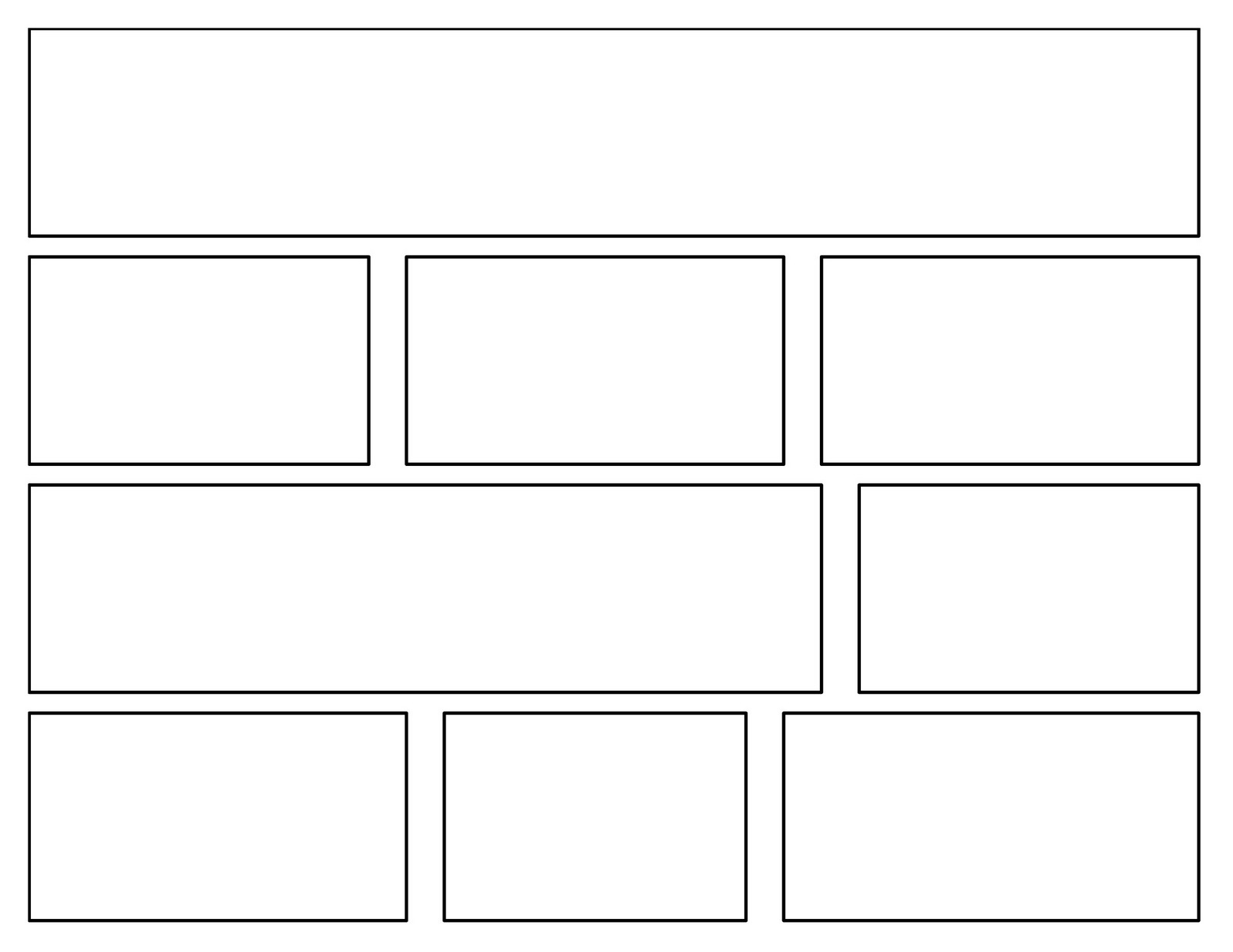 This is a picture of Wild Comic Template Printable