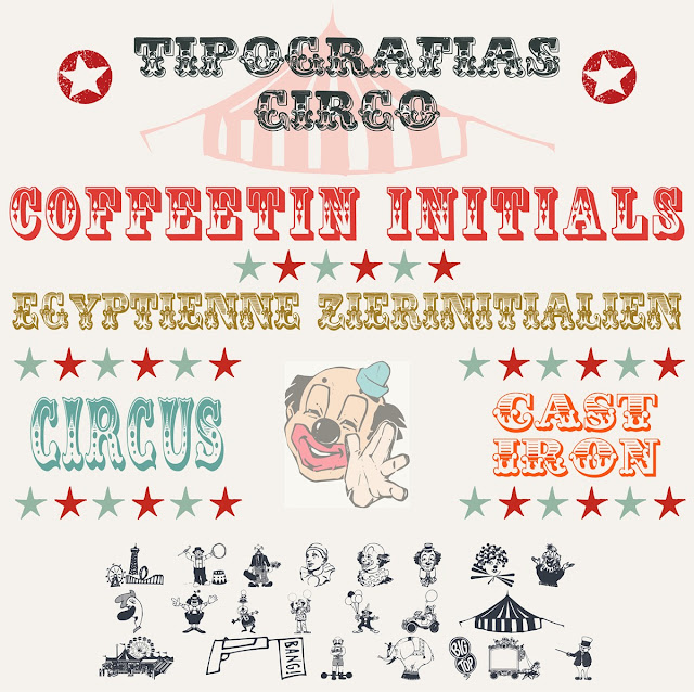 Tipografia CIRCO freebies recursos gratis diseño grafico dingbat tipos fonts fuentes