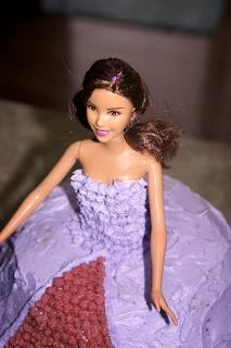 Savory Sweet and Satisfying: Dark Chocolate Barbie Cake with Raspberry Buttercream