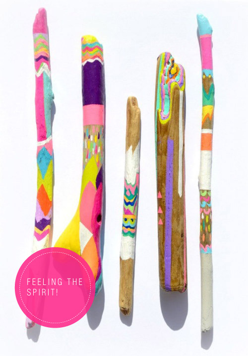 DIY Painted Spirit-sticks Via colourfulcarla.com
