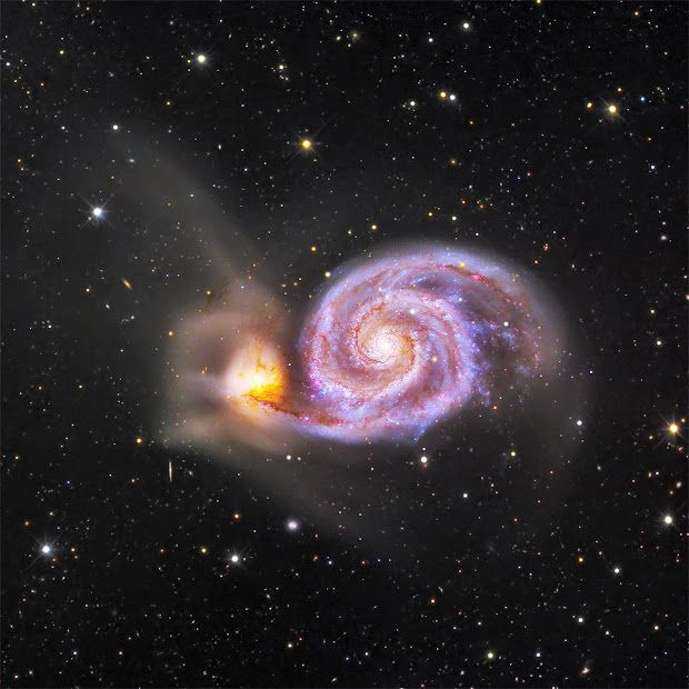 Spiral Galaxy M51 - The Whirlpool Galaxy