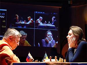 La révélation Mariya Muzychuk, lors du Trophée Karpov 2013 © Chess & Strategy