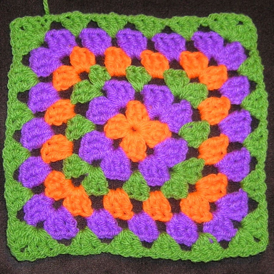 Knitted Granny Square Patterns : granny square pattern-Knitting Gallery