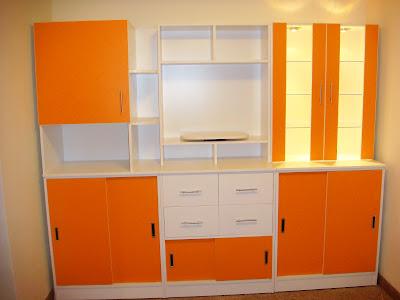 Muebles de melamina en puno mueble auxiliar de comedor con luces empotradas - Muebles auxiliares comedor ...