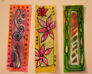 Loving the stitched ATCs, and wax on!
