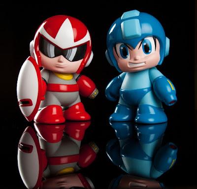 "Mega Man & Proto Man 7"" Vinyl Figures by Kidrobot x Capcom"