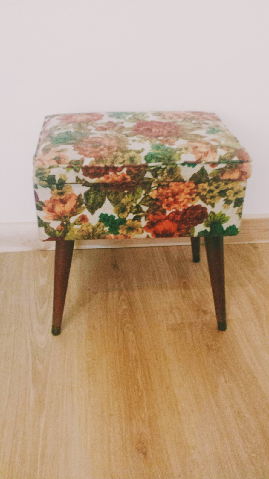 Vintage Floral Sewing Stool