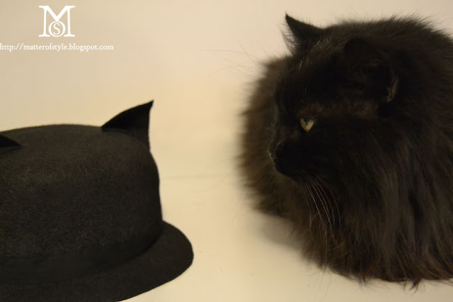 how to make a felt hat, cat hat, cat hat diy, fashion diy, hat diy