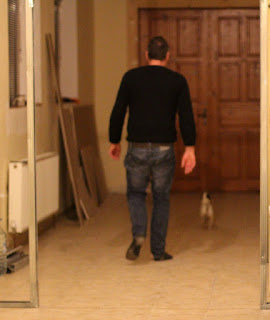 Chaz walking Louise through the hotel
