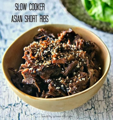 Slow Cooker Asian Short Ribs from Healthy Green Kitchen featured on SlowCookerFromScratch.com