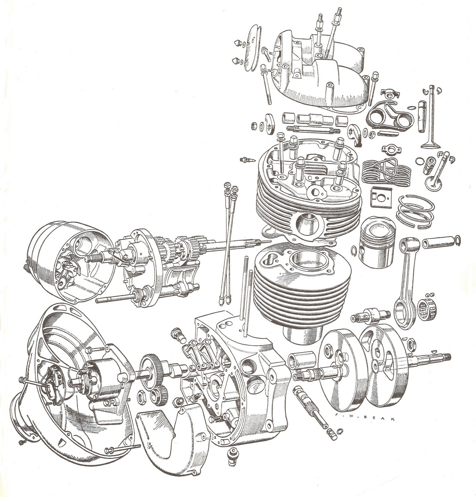 harley oil case diagram