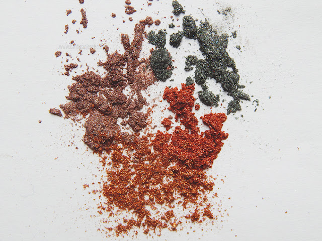Glitter powder scattered across a white background