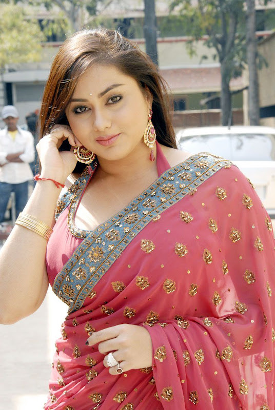 Actress Namitha Stills in Saree Photoshoot images