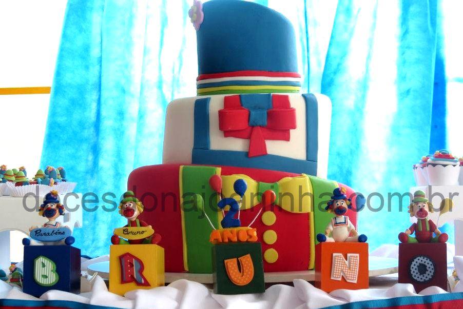 Festa Palhacinhos Patati Patatá Bolo, Cake Pops, Cupcakes, Docinhos e