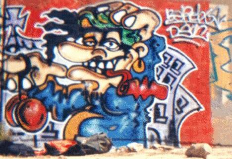 Personaje vieja escuela graffiti bcn
