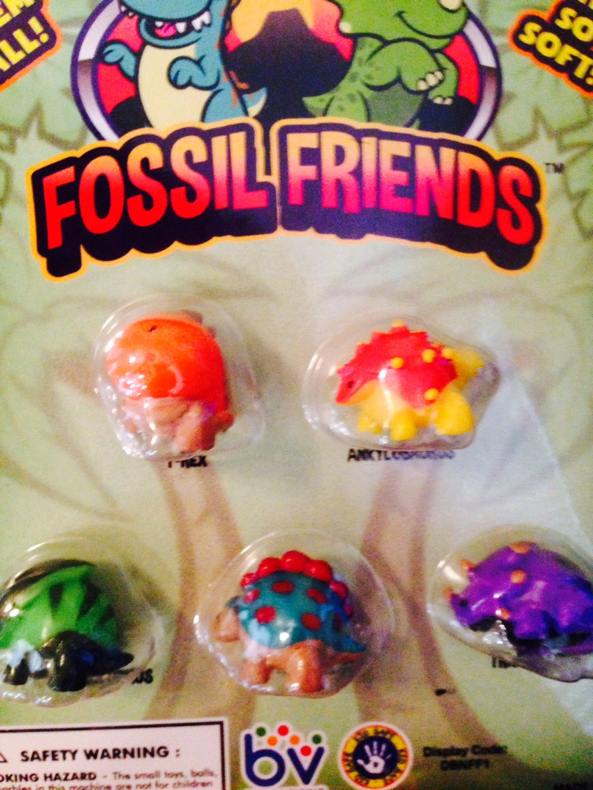 Fossil Friends Squishy Dinosaur Pencil Toppers