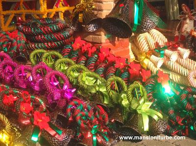 Adornos típicos navideños en Tzintzuntzan, Michoacan
