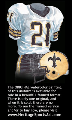 New Orleans Saints 1984 uniform