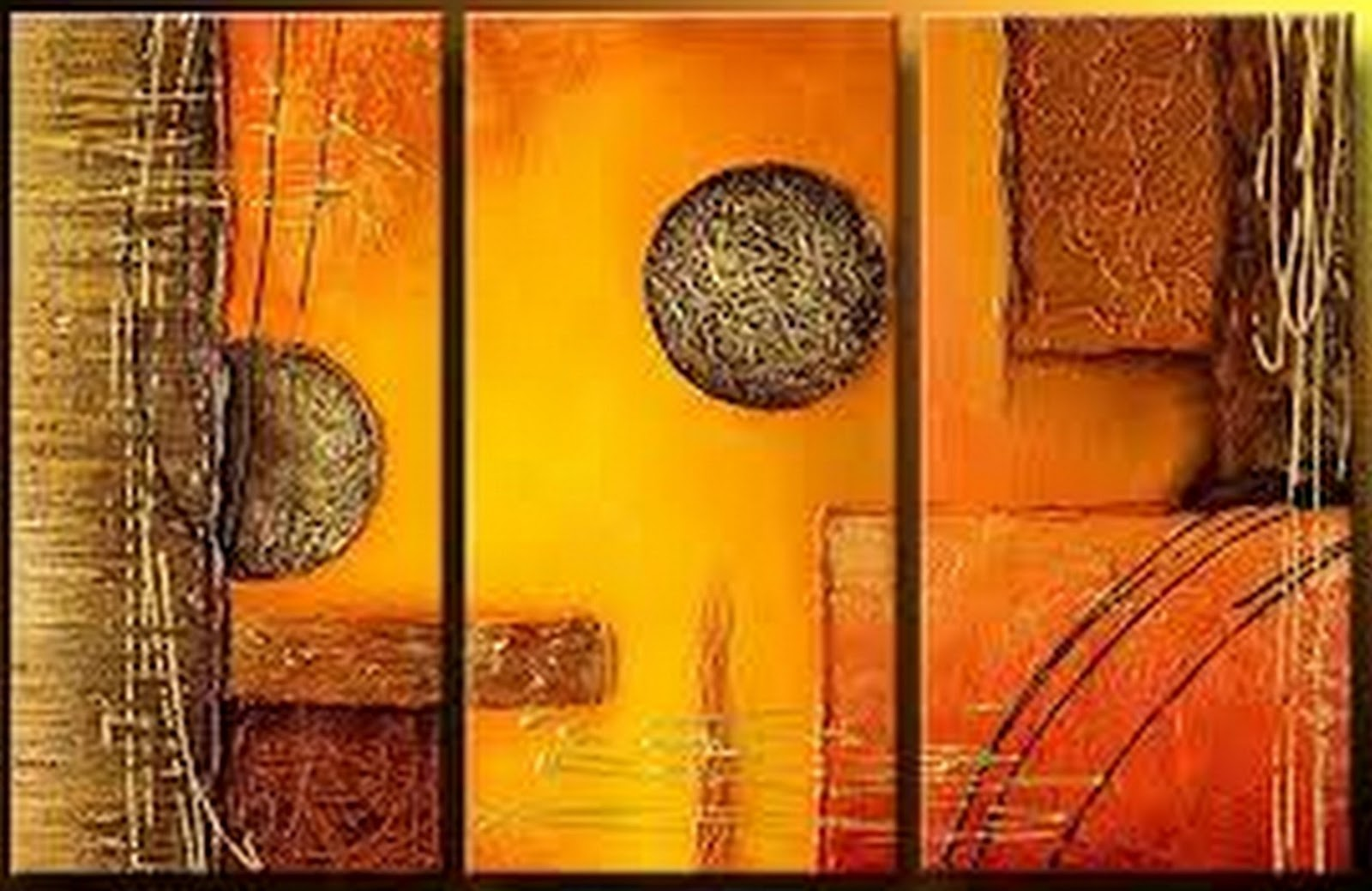 Arte pinturas leo cuadros tr pticos modernos - Triptico cuadros modernos ...