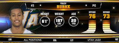 NBA 2K13 Jazz Trey Burke - Round 1 9th Overall