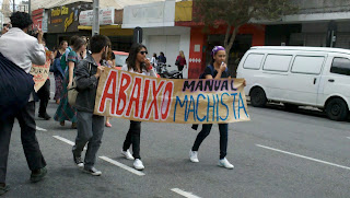 Ato contra o machismo na UFPR - 04/04/12