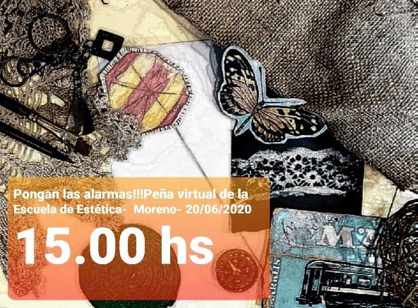 PEÑA 2020/ 20 DE JUNIO 15HS / /PEÑA 2020