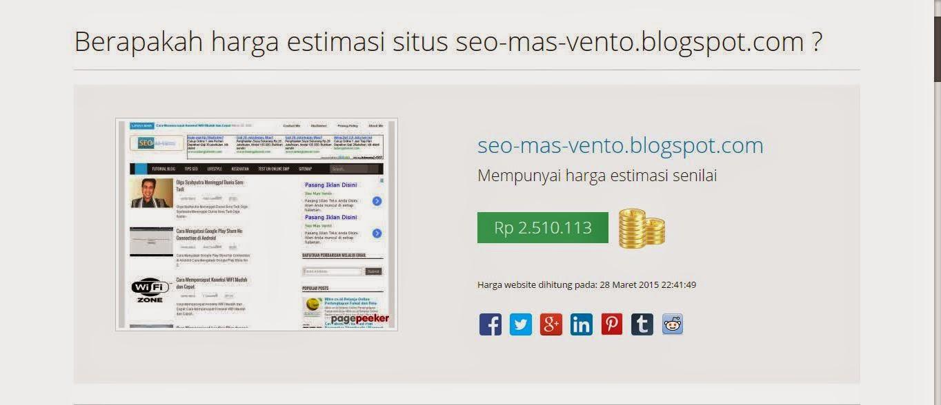 Cara Cek Harga/Estimasi Blog/Website dengan Mudah