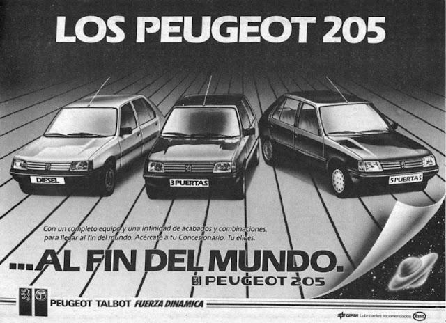 Anuncio Peugeot 205.