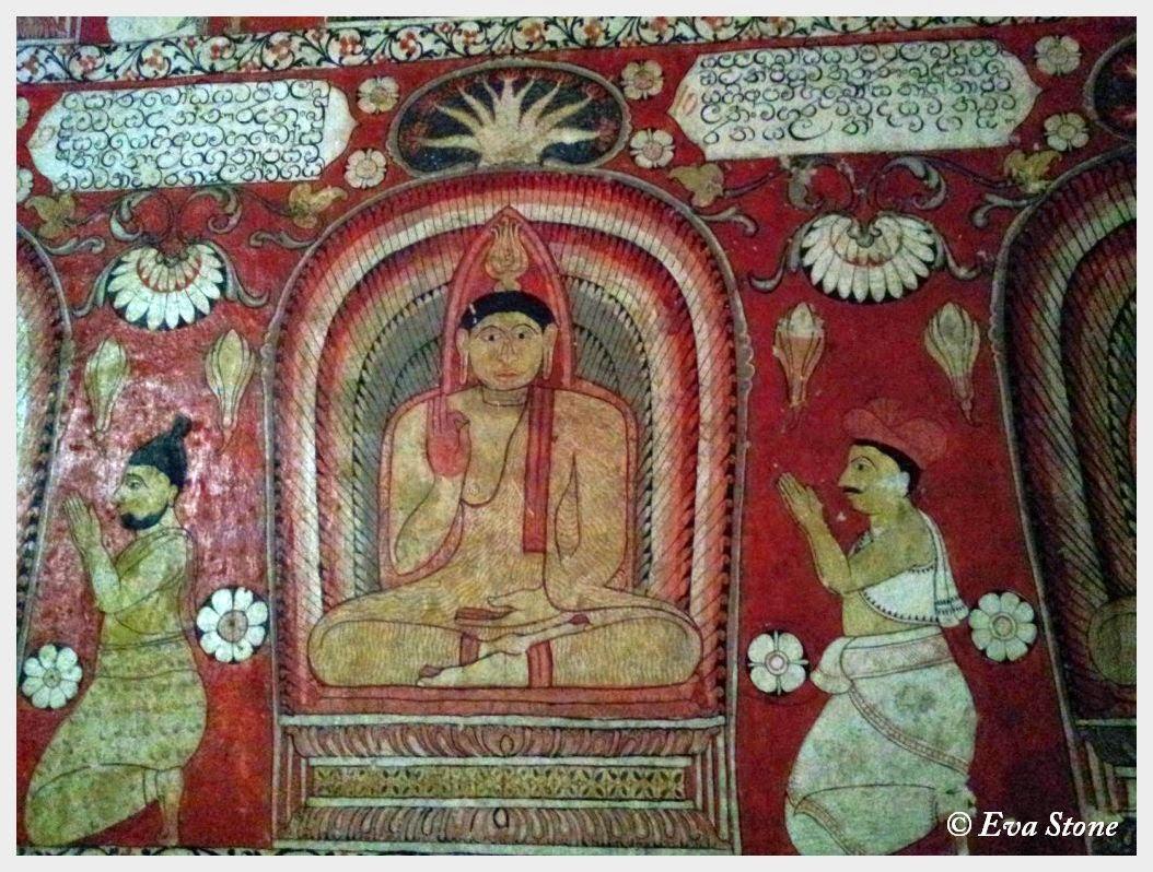 Eva Stone photo, Bodhisattva, murals, Lankathilake Temple