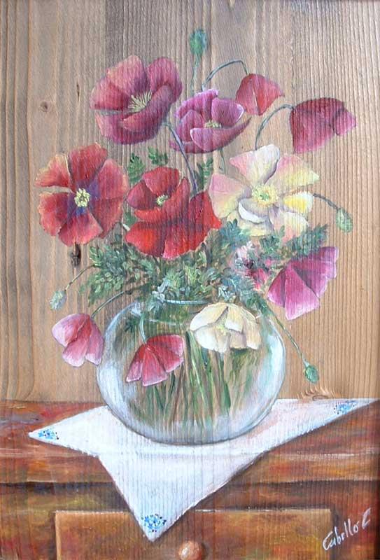 Ortensie Dipinte Ad Olio: Quadro floreale moderno dipinto su tela con colori ...