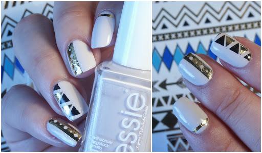 Metallic Tattoos Nails