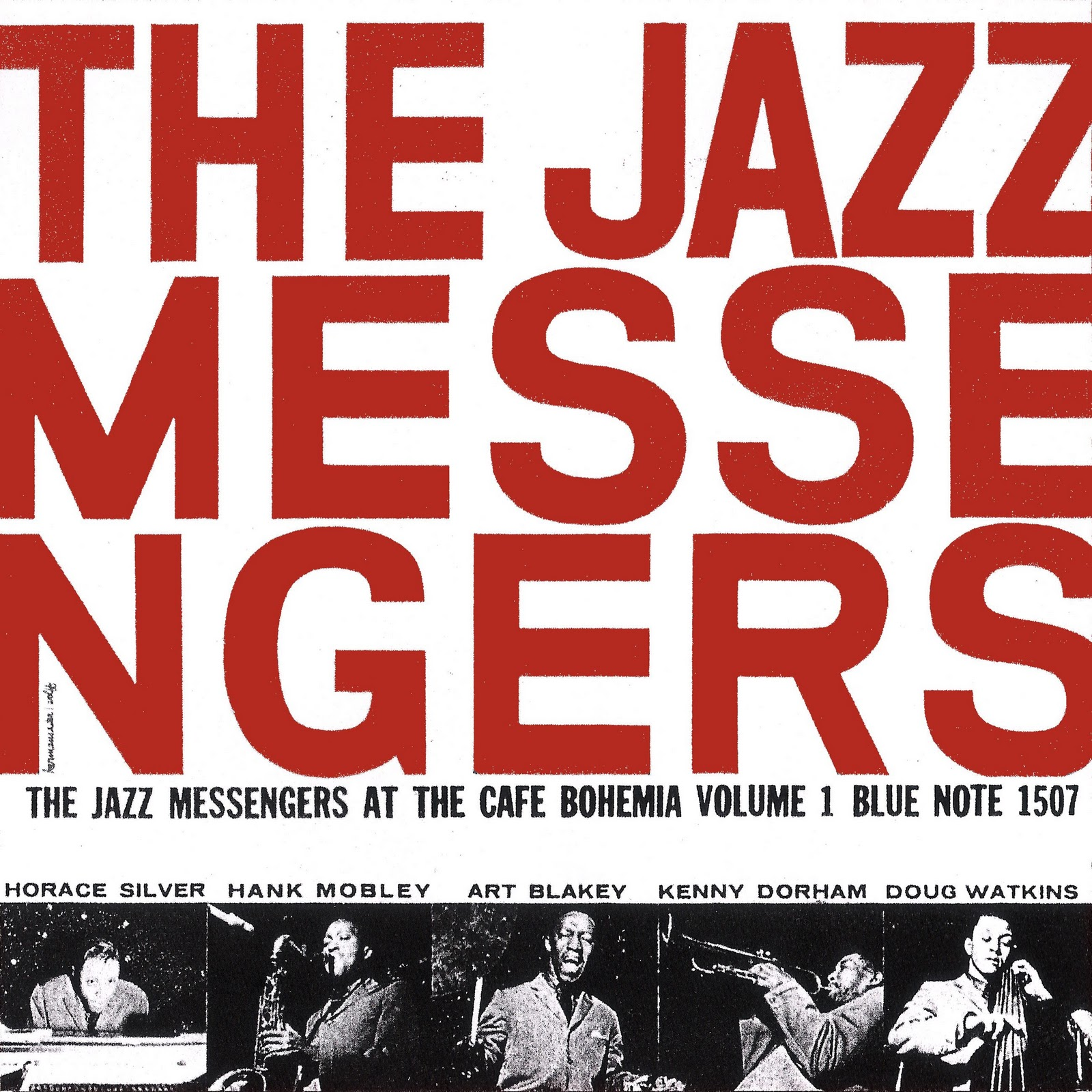 art blakey & the jazz messengers - live at the cafe bohemia vol. 1 (sleeve art)