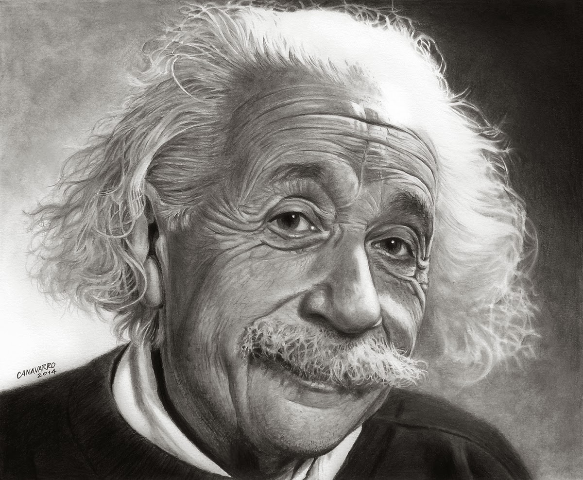 04-Albert-Einstein-Nestor-Canavarro-Celebrity-Portraits-Animated-Drawings-www-designstack-co