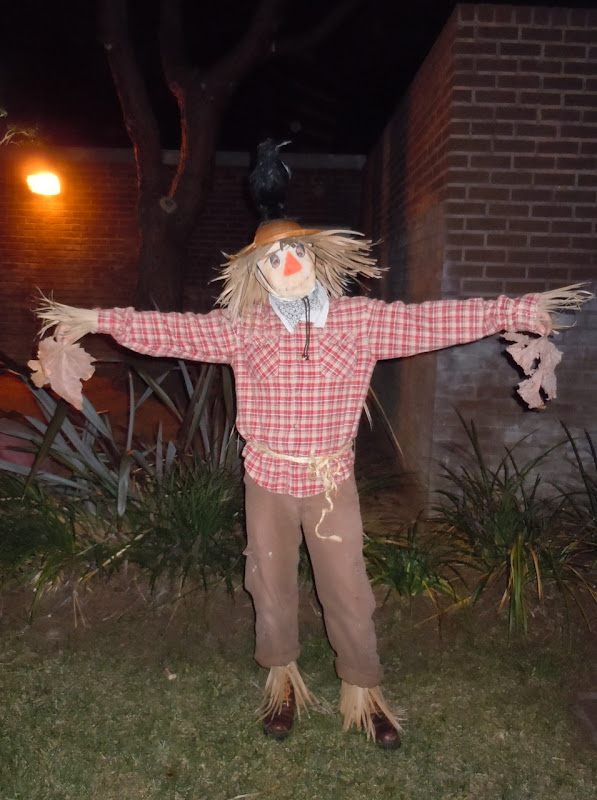 West Hollywood Halloween scarecrow