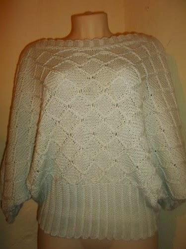 blusa de linha em trico  cor nude