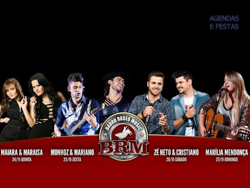 BAURU RODEO MUSIC 2016 EM BAURU - SP DE 24 À 27 DE NOVEMBRO