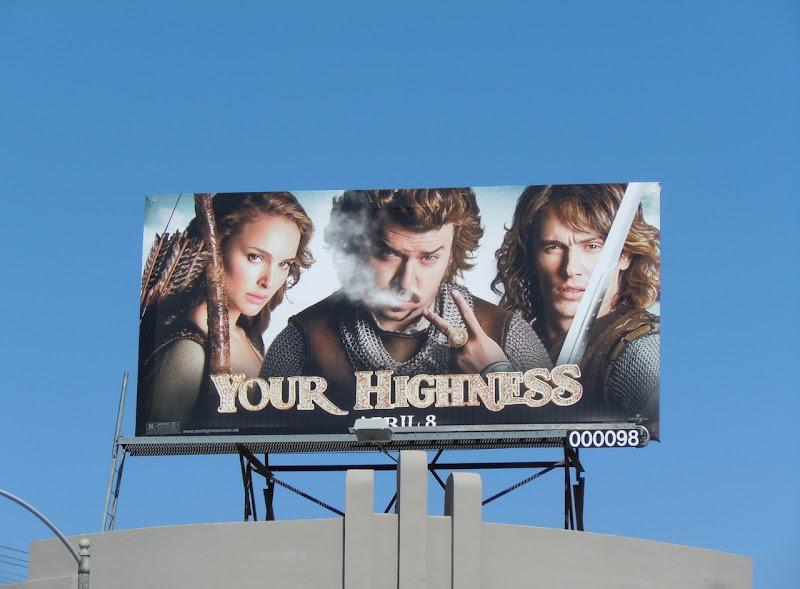Your Highness movie billboard