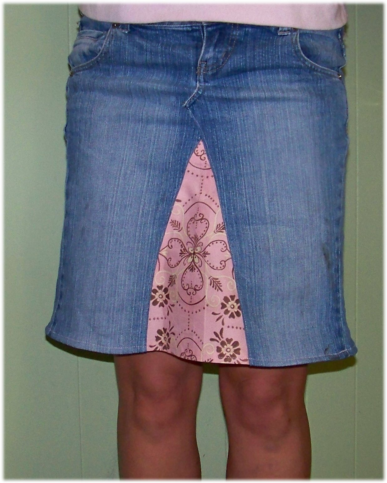 How to make a jean skirt out of jean shorts – Modern skirts blog ...