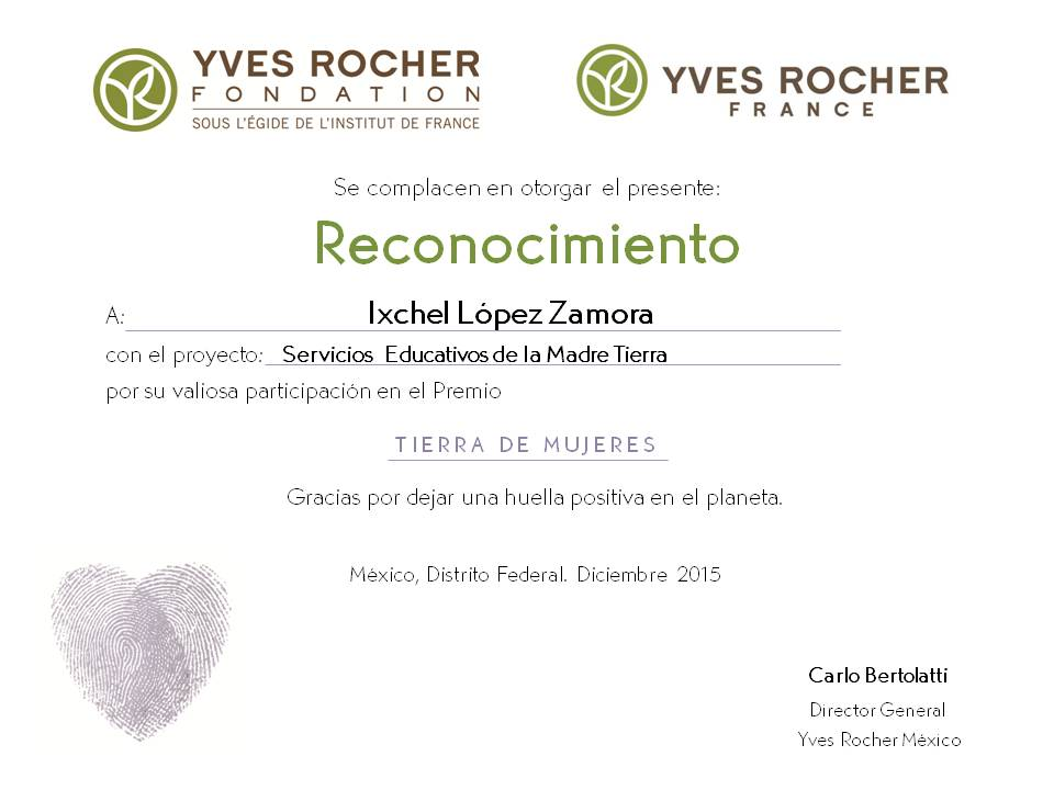 YVES ROCHER  FOUNDATION  FRANCE  2015