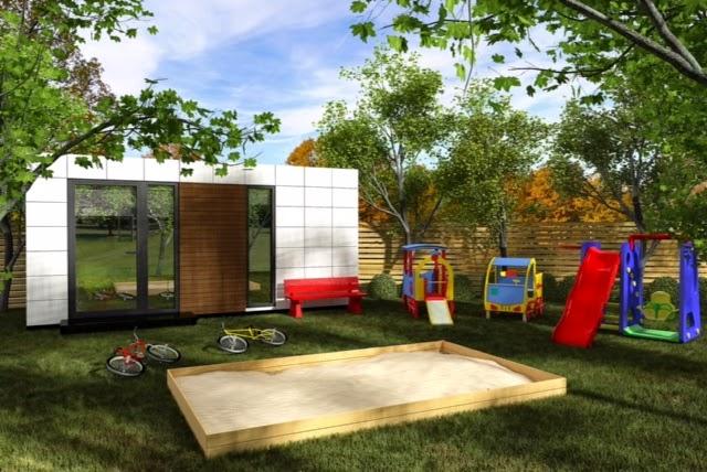 Módulo de jardín ludoteca - Resan Modular - Exterior